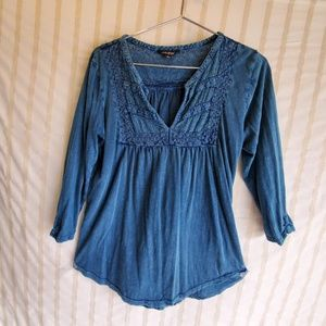 LUCKY Indigo Blue Blouse Small